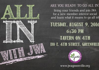 All In with JWA 2016 Recruitment Flyer